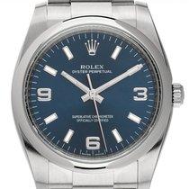 Rolex Oyster Perpetual 34 Steel 34mm Blue Arabic numerals