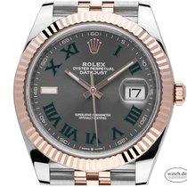 Rolex Datejust II Acero 41mm Gris Romanos