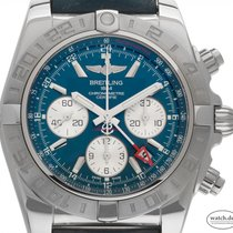 Breitling Chronomat 44 GMT neu 2020 Automatik Chronograph Uhr mit Original-Box und Original-Papieren AB042011/C851/375A