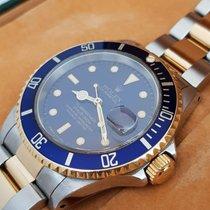 Rolex Submariner Date usato 40mm Blu Data Oro/acciaio