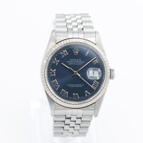 Rolex Datejust Zeljezo 36mm Plav-modar Rimski brojevi