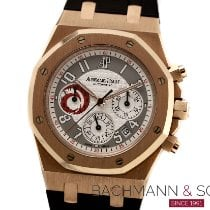 Audemars Piguet Or rouge Remontage automatique Argent Arabes 39mm occasion Royal Oak Chronograph