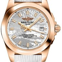 Breitling Galactic 32 Rose gold 32mm Mother of pearl