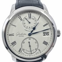Glashütte Original Senator Chronometer occasion 42mm Blanc Date Cuir de crocodile