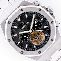 Audemars Piguet Royal Oak Tourbillon Steel 44mm Black No numerals