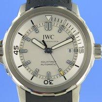 IWC Aquatimer Automatic gebraucht 42mm Silber Datum Kautschuk