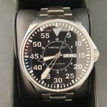 Hamilton Khaki Pilot pre-owned 46mm Black Date Weekday Steel