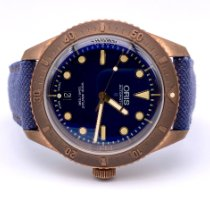 Oris Carl Brashear pre-owned 42mm Blue Date Leather