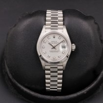 Rolex Platinum Silver 26mm pre-owned Datejust