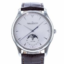 Jaeger-LeCoultre Master Ultra Thin Moon pre-owned 39mm Silver Leather