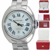 Cartier Clé de Cartier Steel 31mm Silver Roman numerals United States of America, New York, Huntington