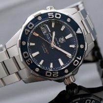 TAG Heuer Aquaracer 500M Сталь 43mm Синий Без цифр