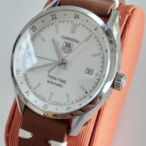 TAG Heuer Carrera Calibre 7 Staal 39mm Wit Geen cijfers