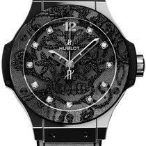 Hublot Steel Automatic Black 41mm pre-owned Big Bang Broderie