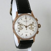 Chronographe Suisse Cie Or rose 38mm Remontage manuel occasion