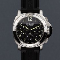 Panerai Luminor Chrono Acier 44mm Noir Arabes
