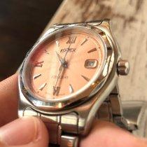 Roamer Steel Quartz Pink Roman numerals 36mm pre-owned Stingray