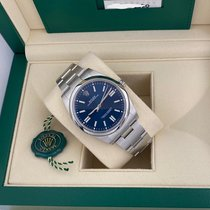 Rolex Oyster Perpetual Сталь 41mm Синий Без цифр