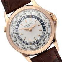Patek Philippe World Time Yellow gold 37mm Silver United States of America, Florida, North Miami Beach