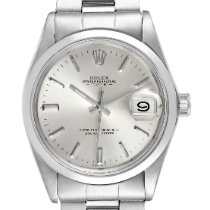 Rolex Steel Automatic Silver 35mm pre-owned Oyster Perpetual Date