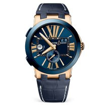 Ulysse Nardin Executive Dual Time Or rose 43mm Bleu Romains France, Paris