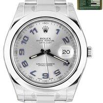 Rolex Datejust II Acero 41mm Plata Arábigos
