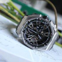 Audemars Piguet Royal Oak Offshore Tourbillon Chronograph neu Handaufzug Uhr mit Original-Box und Original-Papieren 26421ST.OO.A002CA.01
