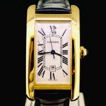 Cartier Tank Américaine Or jaune 22,5mm Blanc Romains