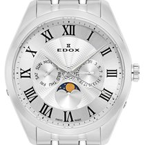 Edox Acero Cuarzo Plata 42mm nuevo
