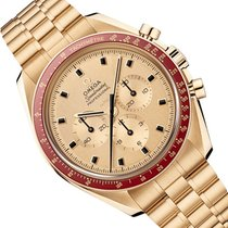 Omega Yellow gold Manual winding Yellow No numerals 42mm new Speedmaster Professional Moonwatch