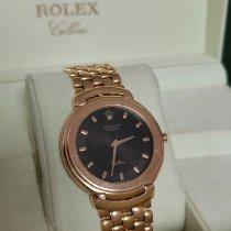 Rolex Cellini Aur galben 37.5mm Negru Fara cifre