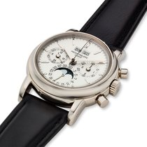 Patek Philippe Perpetual Calendar Chronograph White gold 36mm Silver United States of America, Massachusetts, Chatham
