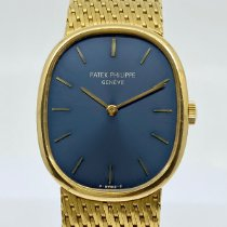 Patek Philippe Golden Ellipse Yellow gold 27mm Blue No numerals