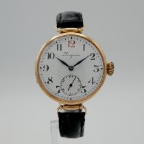 Longines Rose gold Manual winding White Arabic numerals 36mm pre-owned