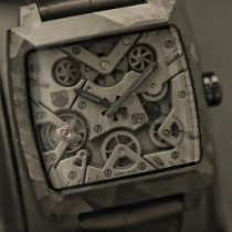 TAG Heuer Monaco V4 Carbon 41mm Grey No numerals