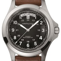 Hamilton Khaki Field King Steel 40mm Black Arabic numerals