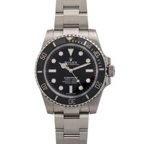 Rolex Submariner (No Date) Plata 40mm Negro Sin cifras