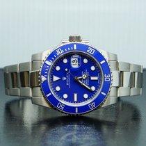 Rolex Witgoud Automatisch Blauw Geen cijfers 40mm tweedehands Submariner Date