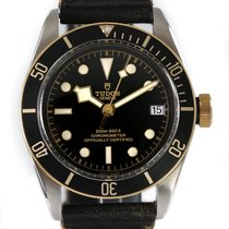 Tudor Black Bay S&G Ouro/Aço 41mm Preto Sem números