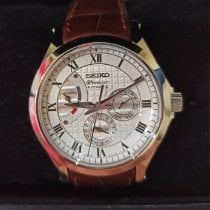 Seiko Premier Automatic Steel 46mm Mother of pearl Roman numerals