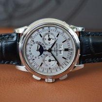Patek Philippe Белое золото Механические Cеребро Aрабские 40mm новые Perpetual Calendar Chronograph