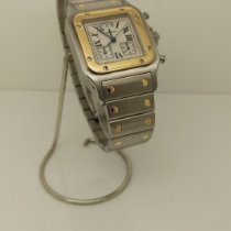 Cartier Santos Galbée Gold/Steel 29mm White Roman numerals