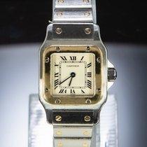 Cartier Santos Galbée occasion 24mm Blanc Or/Acier
