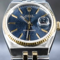 Rolex Datejust Oysterquartz Gold/Steel 36mm Blue No numerals