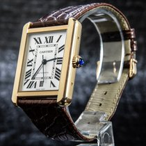 Cartier Tank Solo W 5200026 Very good Gold/Steel 40.85mm Automatic