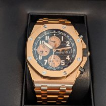 Audemars Piguet Rose gold Automatic Black Arabic numerals 42mm pre-owned Royal Oak Offshore Chronograph