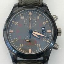 IWC Fliegeruhr Chronograph Top Gun Miramar Keramik 46mm Grün Arabisch