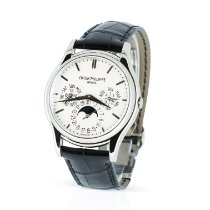 Patek Philippe Perpetual Calendar White gold 37.2mm White No numerals