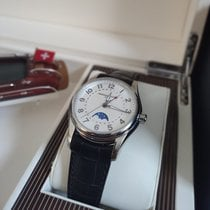 Frederique Constant Runabout Moonphase Steel 43mm Silver Arabic numerals