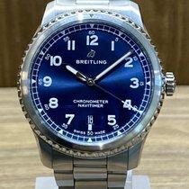 Breitling Navitimer 8 Сталь 41mm Синий Aрабские